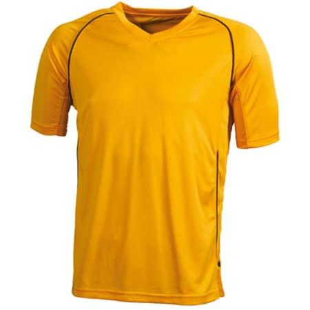 Team Shirt Junior in Orange|Black von James+Nicholson (Artnum: JN386K