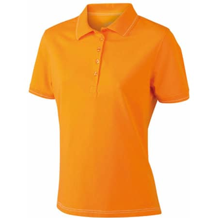 Ladies` Elastic Polo in Orange|White von James+Nicholson (Artnum: JN568