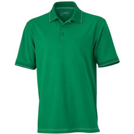 Men`s Elastic Polo in Irish Green White von James+Nicholson (Artnum: JN569