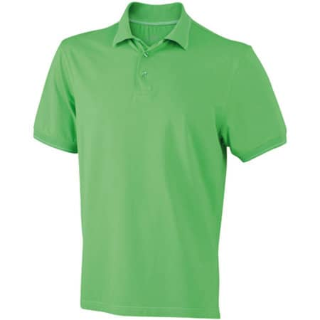 Men`s Elastic Polo in Lime Green|White von James+Nicholson (Artnum: JN569