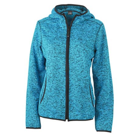 Ladies` Knitted Fleece Hoody von James+Nicholson (Artnum: JN588