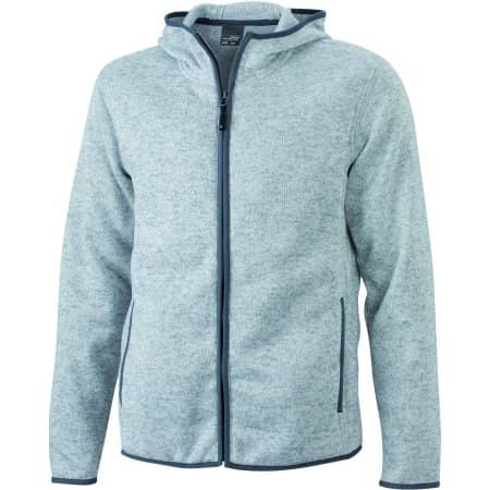 Men`s Knitted Fleece Hoody von James+Nicholson (Artnum: JN589