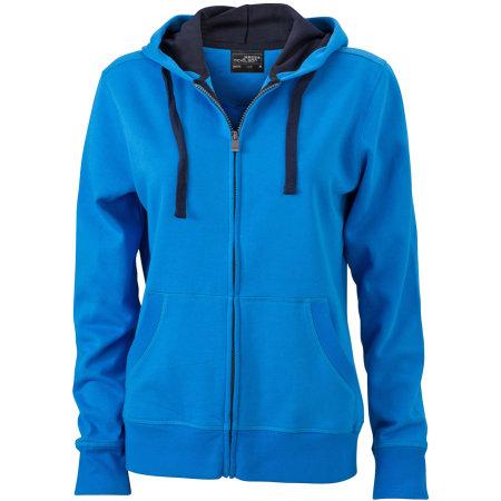 Ladies` Hooded Jacket 594 in Cobalt|Navy von James+Nicholson (Artnum: JN594