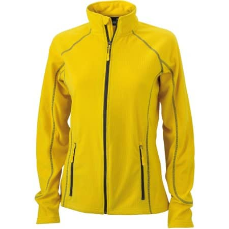 Ladies` Structure Fleece Jacket von James+Nicholson (Artnum: JN596