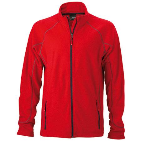 Men`s Structure Fleece Jacket JN597 in Red|Carbon von James+Nicholson (Artnum: JN597