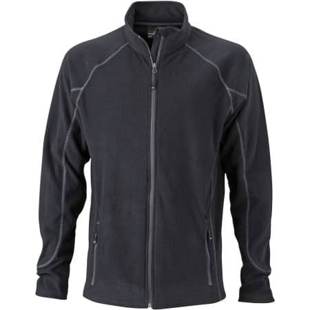 Men`s Structure Fleece Jacket von James+Nicholson (Artnum: JN597