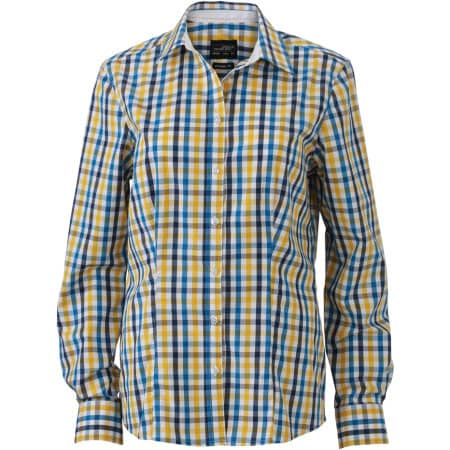 Ladies` Checked Blouse von James+Nicholson (Artnum: JN616