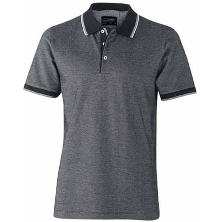 Mens Polo Bicolor von James+Nicholson (Artnum: JN704