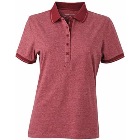 Ladies` Heather Polo von James+Nicholson (Artnum: JN705