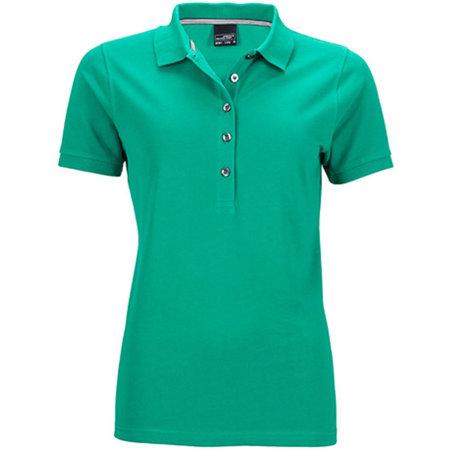 Ladies` Pima Polo in Irish Green von James+Nicholson (Artnum: JN707