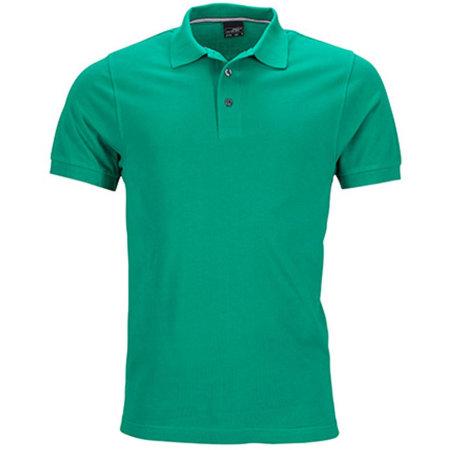 Men`s Pima Polo in Irish Green von James+Nicholson (Artnum: JN708