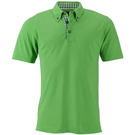 Men`s Traditional Polo in Lime Green|Lime Green|White von James+Nicholson (Artnum: JN716
