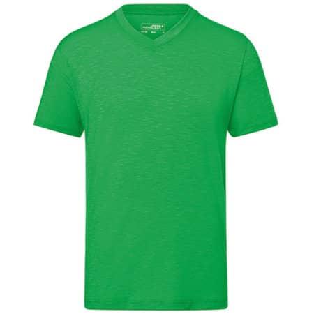Men`s Slub T-Shirt in Fern Green von James+Nicholson (Artnum: JN750