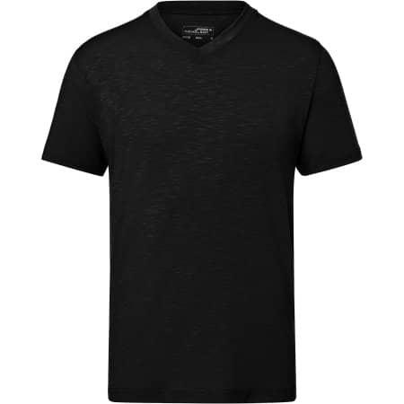 Men`s Slub T-Shirt von James+Nicholson (Artnum: JN750
