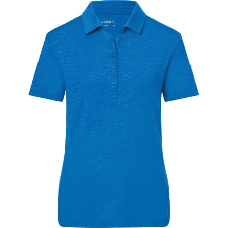 Ladies` Slub Polo von James+Nicholson (Artnum: JN751