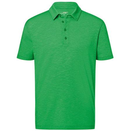 Men`s Slub Polo in Fern Green von James+Nicholson (Artnum: JN752