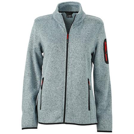 Ladies` Knitted Fleece Jacket von James+Nicholson (Artnum: JN761