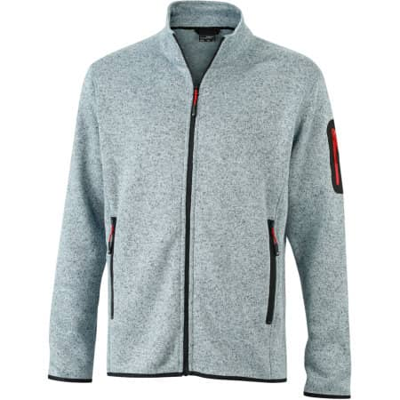 Men`s Knitted Fleece Jacket von James+Nicholson (Artnum: JN762
