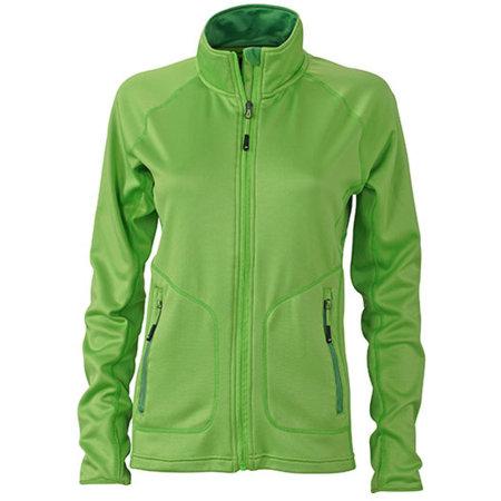Ladies` Stretchfleece Jacket in Spring Green Green von James+Nicholson (Artnum: JN763