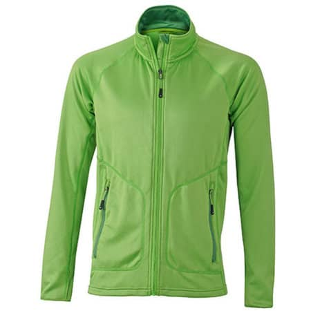 Men`s Strechfleece Jacket in Spring Green Green von James+Nicholson (Artnum: JN764