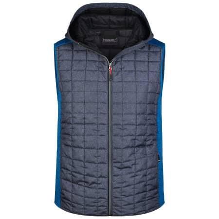 Men`s Knitted Hybrid Vest von James+Nicholson (Artnum: JN768