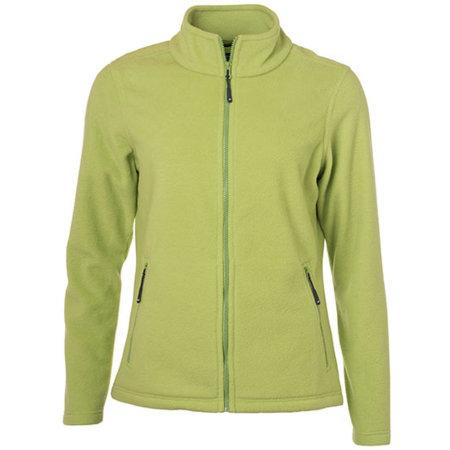 Ladies` Fleece Jacket JN781 in Lime Green von James+Nicholson (Artnum: JN781