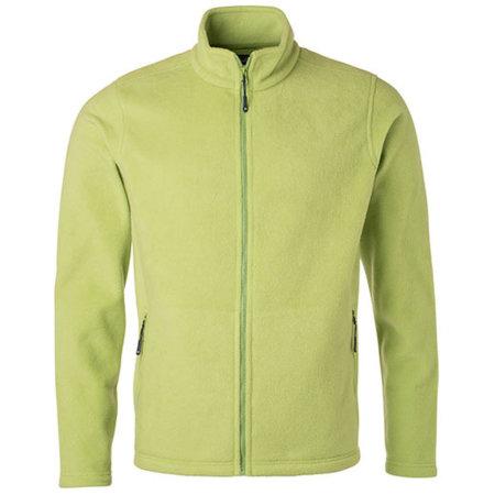 Men`s Fleece Jacket JN in Lime Green von James+Nicholson (Artnum: JN782