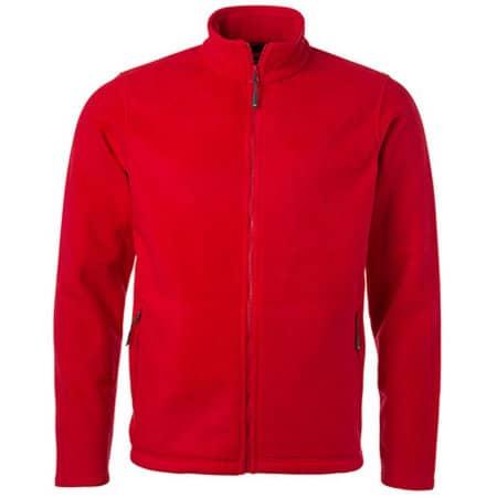 Men`s Fleece Jacket JN in Red von James+Nicholson (Artnum: JN782