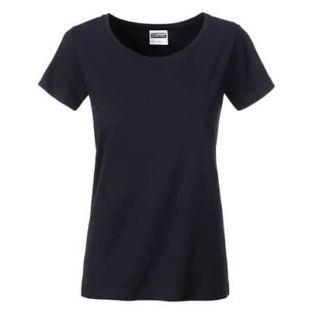 Ladies Basic-Tee in Black von James+Nicholson (Artnum: JN8007