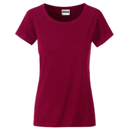 Ladies Basic-Tee in Wine von James+Nicholson (Artnum: JN8007