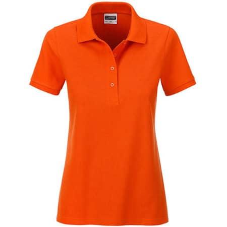 Ladies` Basic Polo in Dark Orange von James+Nicholson (Artnum: JN8009