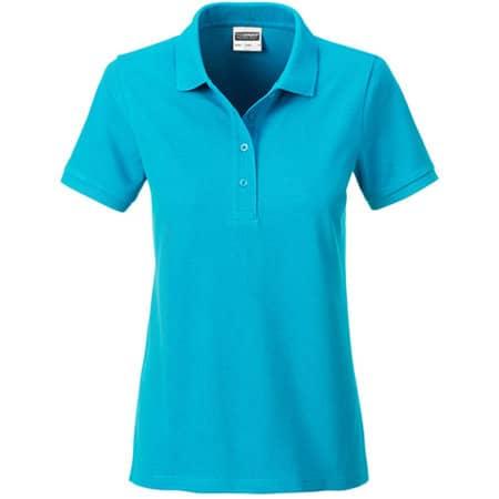 Ladies` Basic Polo in Turquoise von James+Nicholson (Artnum: JN8009