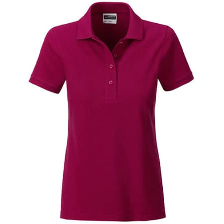 Ladies` Basic Polo in Wine von James+Nicholson (Artnum: JN8009