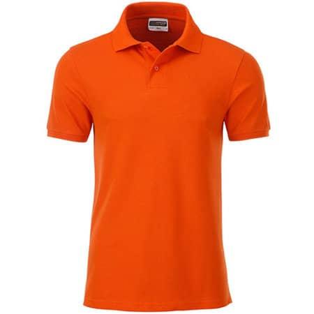 Men`s Basic Polo in Dark Orange von James+Nicholson (Artnum: JN8010
