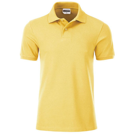 Men`s Basic Polo in Light Yellow von James+Nicholson (Artnum: JN8010