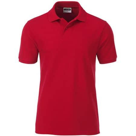 Men`s Basic Polo in Red von James+Nicholson (Artnum: JN8010