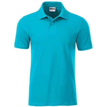 Men`s Basic Polo in Turquoise von James+Nicholson (Artnum: JN8010