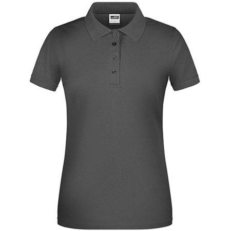 Ladies` Bio Workwear Polo in Carbon von James+Nicholson (Artnum: JN873