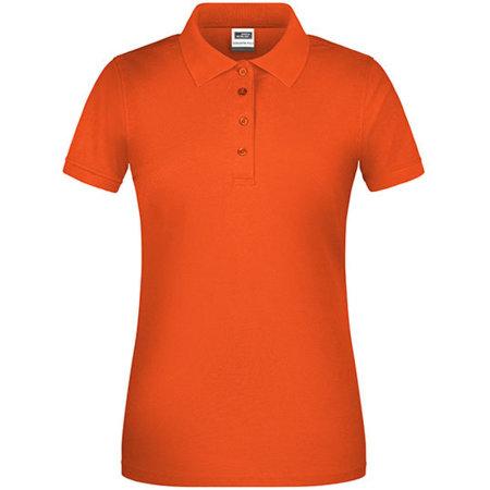 Ladies` Bio Workwear Polo in Orange von James+Nicholson (Artnum: JN873