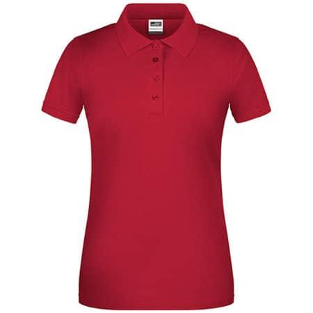 Ladies` Bio Workwear Polo in Red von James+Nicholson (Artnum: JN873