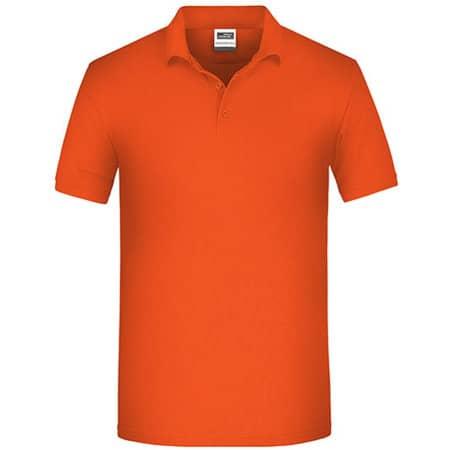 Men`s Bio Workwear Polo in Orange von James+Nicholson (Artnum: JN874