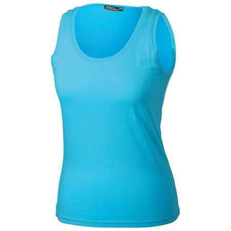 Ladies` Tank Top in Turquoise von James+Nicholson (Artnum: JN902