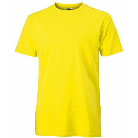 Mens Slim-Fit-T in Yellow von James+Nicholson (Artnum: JN911
