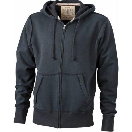 Men`s Vintage Hoody Jacket von James+Nicholson (Artnum: JN943