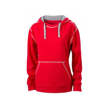 Ladies` Lifestyle Hoody von James+Nicholson (Artnum: JN960