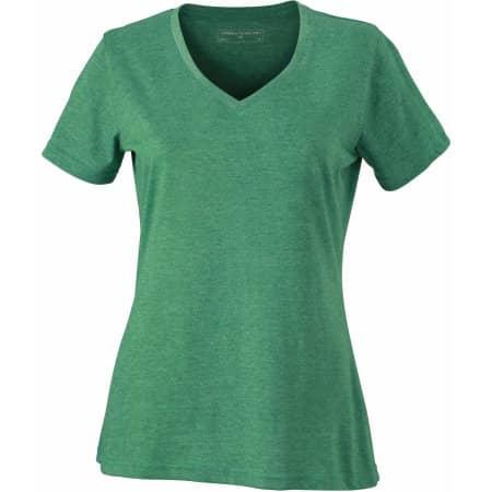 Ladies` Heather T-Shirt von James+Nicholson (Artnum: JN973