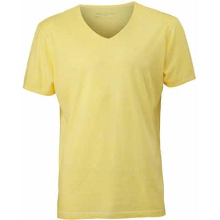 Men`s Gipsy T-Shirt in Light Yellow von James+Nicholson (Artnum: JN976