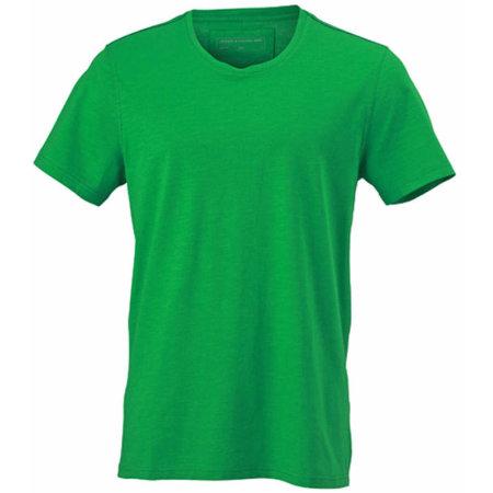 Men`s Urban T-Shirt in Fern Green|Navy von James+Nicholson (Artnum: JN978