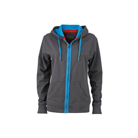 Ladies` Urban Hooded Sweat Jacket von James+Nicholson (Artnum: JN981