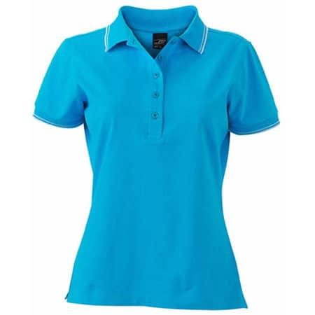 Ladies` Polo JN985 in Turquoise|White von James+Nicholson (Artnum: JN985